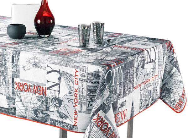 tablecloth with graphics and large prints