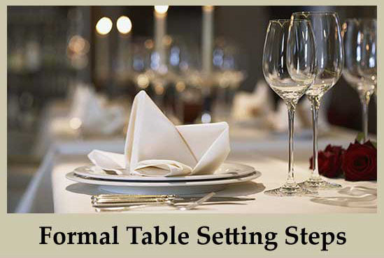Steps for formal table setting
