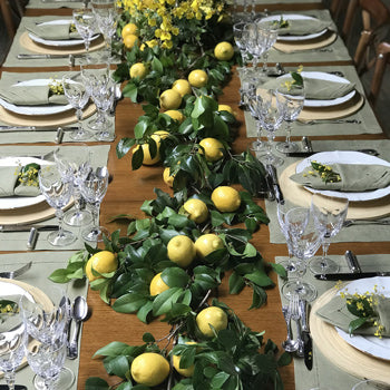 Citrus-Themed Table Setting