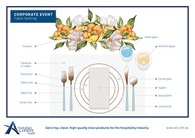 Corporate Function Event Table Setting