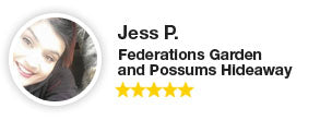 Testimonial and reviews from Federations Garden and Possums Hideaway.