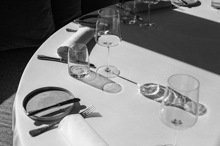 Restaurant Table with Table Cloth