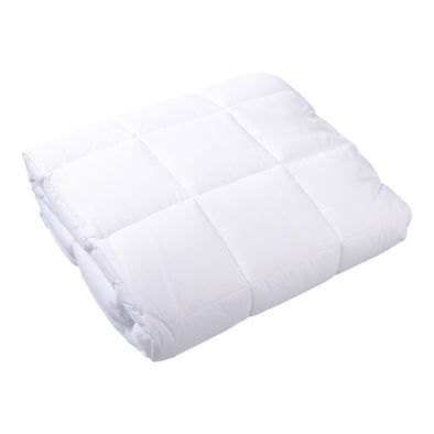 Box End Quilt Doona WHITE