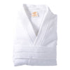White Cotton Terry Bathrobe