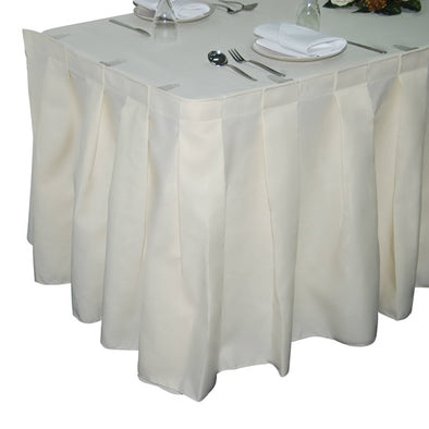 Spun Polyester Box-Pleat Table Skirting
