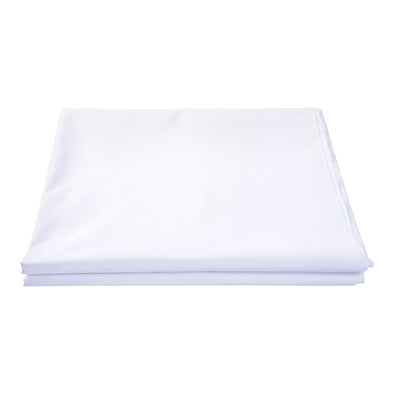 Cotton Rich White Flat Bed Sheets