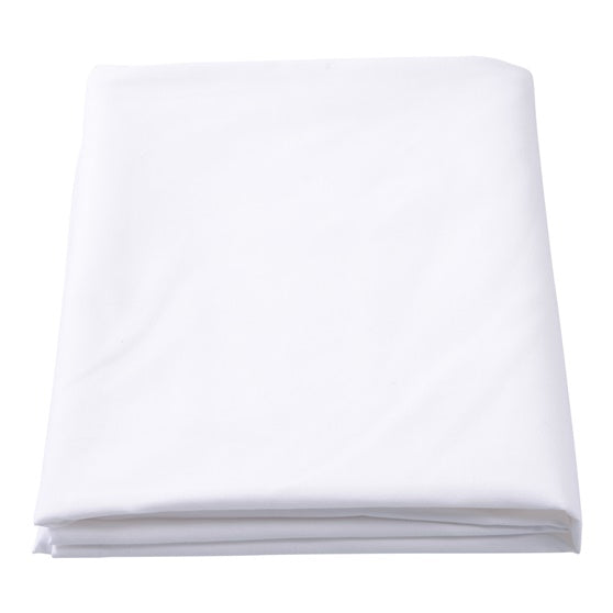 Poly Carded Cotton White Flat Bed Sheet