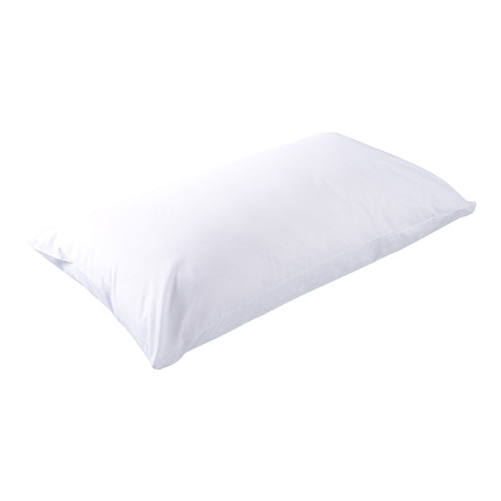 Poly Carded Cotton White Pillowcase