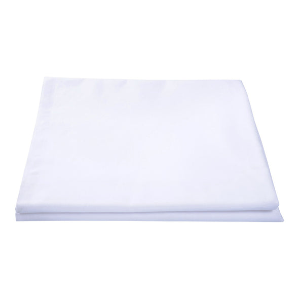 Poly Carded Cotton White Fitted Bed Sheet