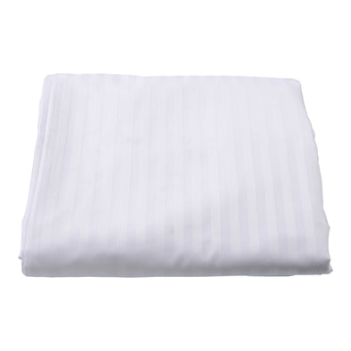 Sateen Satin Stripe White Quilt Cover