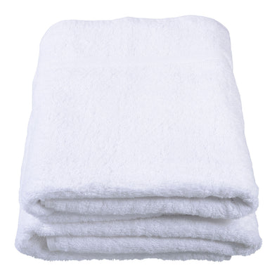 White Cotton Executive Herringbone Header Bath Towel