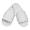 Terry Velour White Hotel Slippers