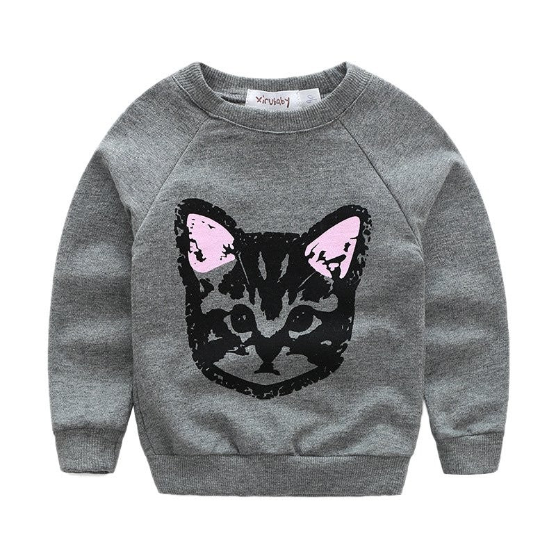 BLACK KITTEN CASUAL SWEATSHIRT & PANTS SET