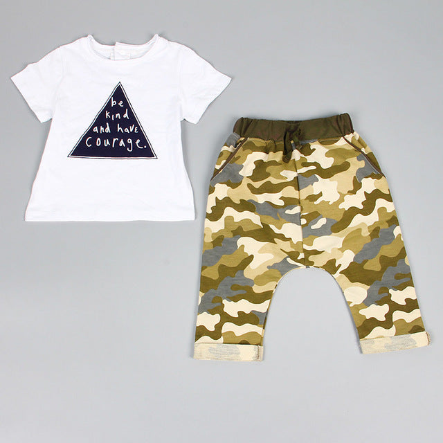 BE KIND T-Shirt and Camo set