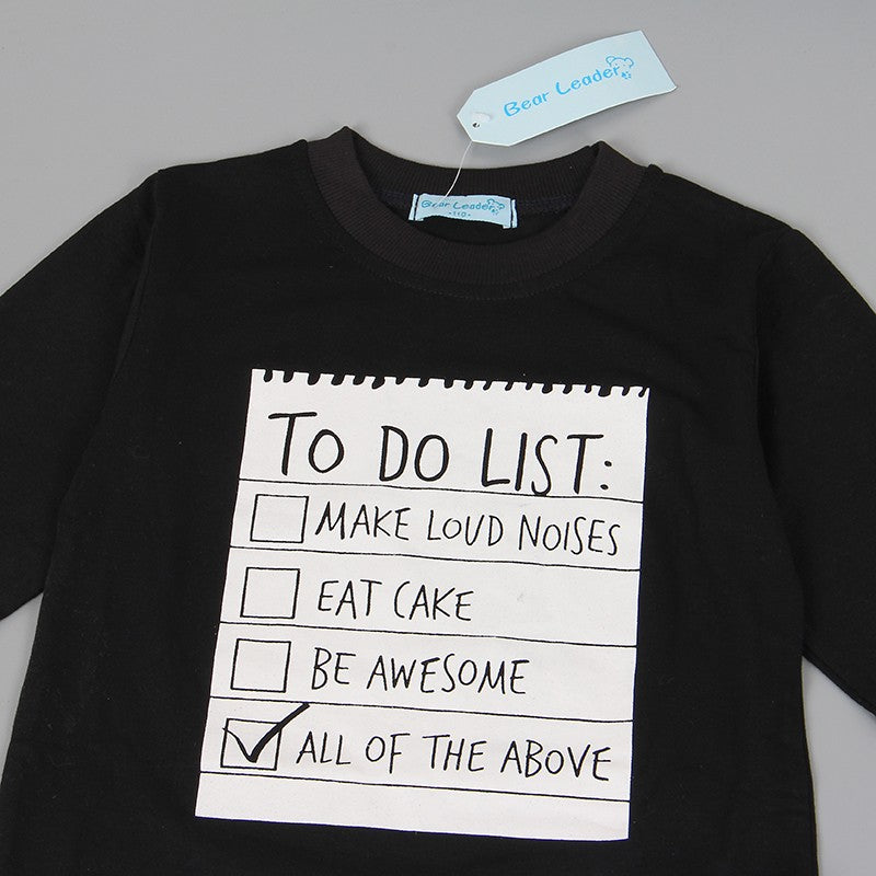 TO DO LIST Boys T-shirt & Pants set