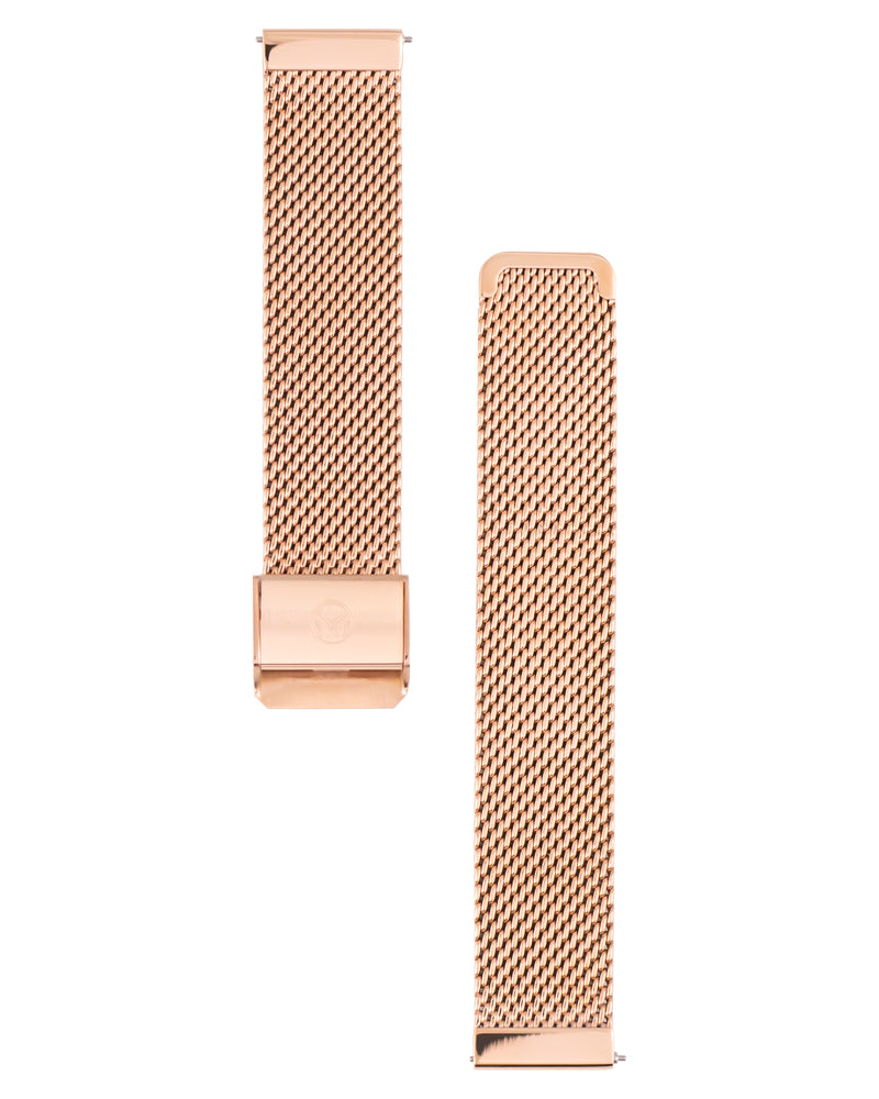 20mm Stainless Steel (PVD Rose Gold) Mesh Bracelet