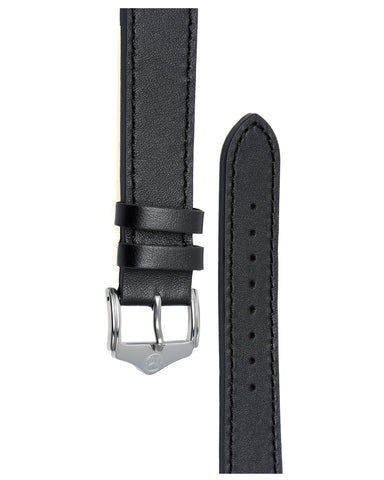 20mm Leather - Stitched - Black