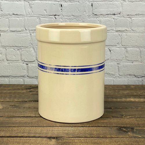 Striped Blue Crock | Large