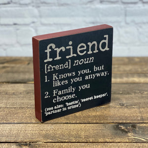 Definition Sign | Friend