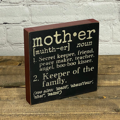Definition Sign | Mother