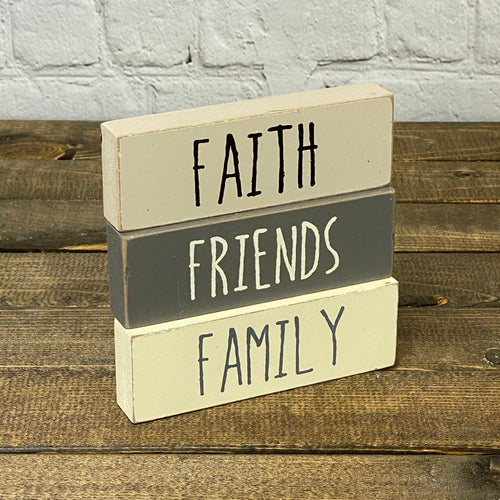 Faith. Family. Friends | Block (pkg of 3)