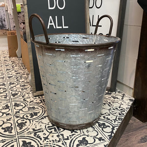 Galvanized Olive Bucket | Large