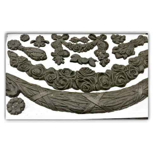 Floral Swags IOD Decor Mould