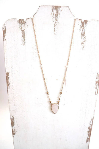 Medium Accent Necklace | Gold Druzy