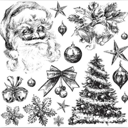 *NEW Holly Jolly IOD Decor Stamp