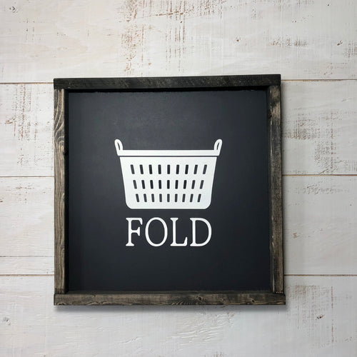 12 x 12 Framed Panel Sign | Fold