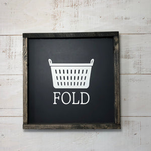 Framed Panel Sign | 12 x 12 | Fold