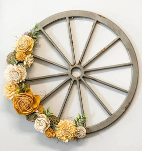 Wednesday, October 28th 6:00 PM | Blooming Wheel Wreath
