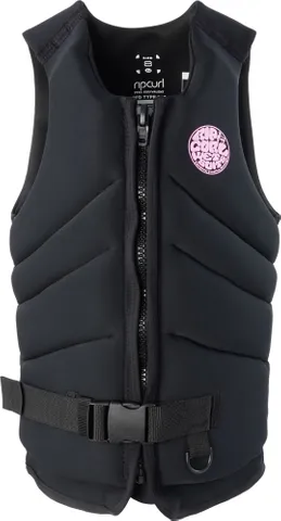 RIP CURL WOMENS DAWN PATROL LIFE JACKET - BLACK | Rapid Surf & Ski