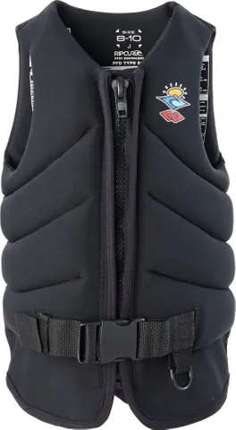 RIP CURL BOYS DAWN PATROL LIFE JACKET - BLACK | Rapid Surf & Ski