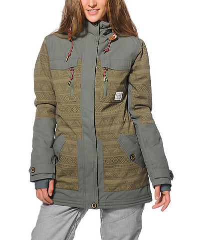 Billabong Callahan Snow Jacket - Green - Rapid Surf & Ski