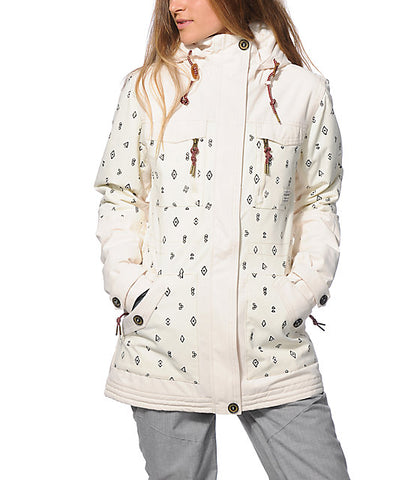 Billabong Callahan Snow Jacket - White - Rapid Surf & Ski