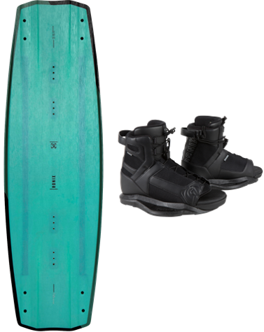 2021 RONIX ONE BLACKOUT WAKEBOARD W/ DIVIDE BOOTS | Rapid Surf & Ski