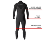 Rip Curl Flashbomb 3/2mm Steamer Wetsuit - Chest Zip - Rapid Surf & Ski