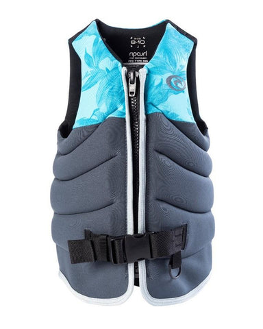 Rip Curl Girls Dawn Patrol Life Jacket - Blue