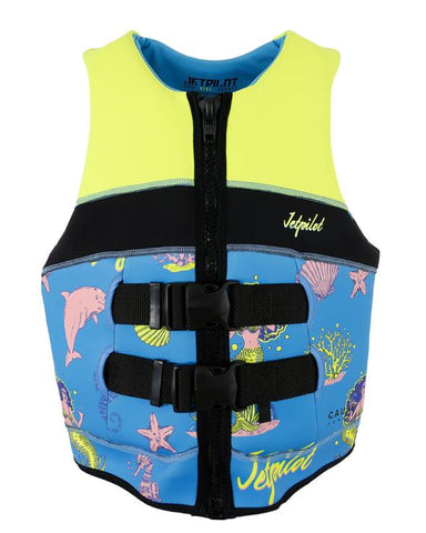 Jetpilot Cause Kids Life Jacket  - Yellow/Blue - Rapid Surf & Ski