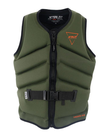 Jetpilot Freeride Life Jacket - Military - Rapid Surf & Ski