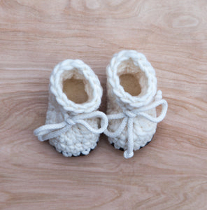 Wow and new mom with this perfect unique baby gift. Handcrafted baby booties lined with sheepskin perfect for fall and winter babies.