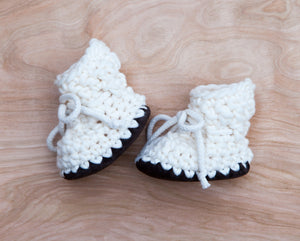 Baby Booties and Children's Slippers handmade with wool and sheepskin lined