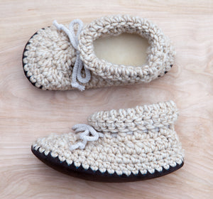Oatmeal Adult Slippers