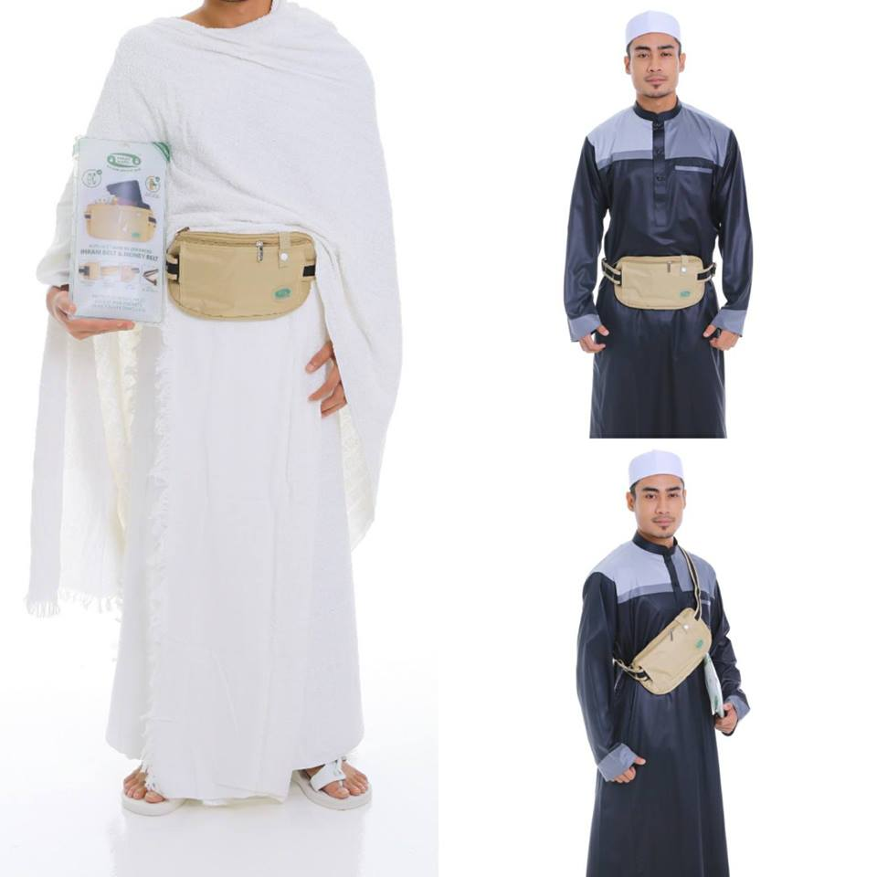 Anti-Theft Waist And Ihram Belt(Medium)