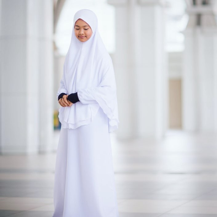 Jubah Anis - Pure White