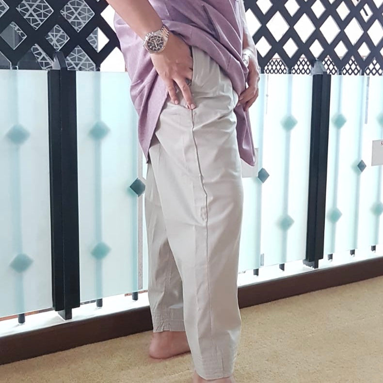 Tapered Ankle Pants- Light Brown