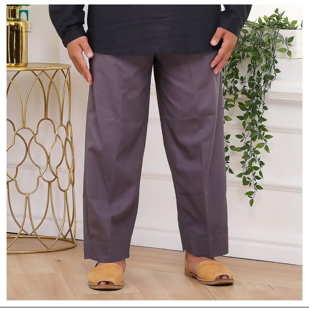 Tapered Ankle Pants - Denim Grey