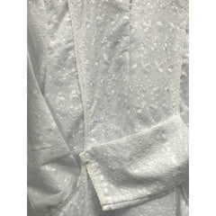 Duo Pocket Cotton Embroidery - White