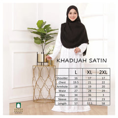 Khadijah - Satin Embroidery